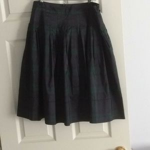Pure silk tartan plaid skirt